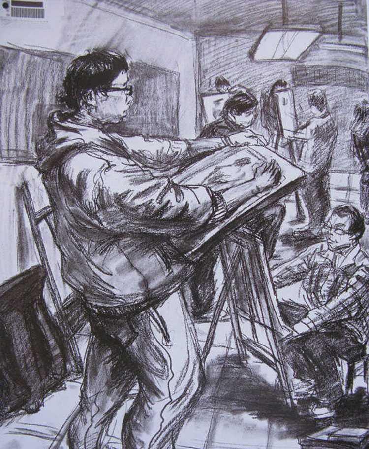 赏析 艺术社区 2010年中央美术学院造型艺术速写考卷13.jpg
